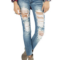 Destroyed Skinny Jeans $40