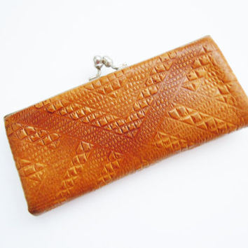 Vintage Leather Eyeglass Case from Soviet Time
