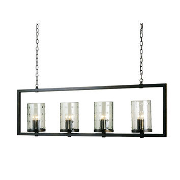Currey & Company 9742 Bronze Gold 12-Light Longhope Rectangular Chandelier