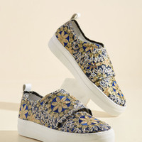 Pull the Styled Card Sneaker | Mod Retro Vintage Flats | ModCloth.com