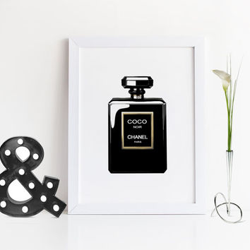 COCO CHANEL PERFUME,Fashion Print,Perfume Bottle,Chanel Perfume,Makeup,Gift For Wife,Gift For Girlfriend,Gift For Birthday,Illustration Art