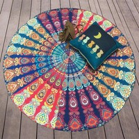 Large Indian Mandala Tapestry Wall Hanging Boho Printed Beach Throw Towel Yoga Mat Table Cloth Bedding Home Decor