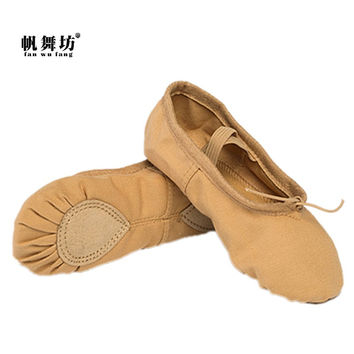 fan wu fang 2017 New Arrival Camel Soft Ballet Dance Shoes Yoga Shoes Slippers Indoor Women Girls Kid According The CM To Buy