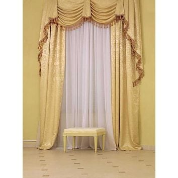 Architecture Golden Drapes Vinyl Backdrop - 6x8 - LCCR1094 - LAST CALL