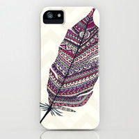 Cuuuuuute *** TIFFANY AZTEC FEATHERS *** iPhone & iPod Case by Monika Strigel for iphone 5c + 5s + 5 + 4s + 4 + 3gs+ 3g + ipod + galaxy !!!