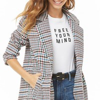 Multicolored Plaid Coat