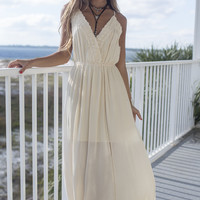 Sweet Seaside Cream Maxi Dress