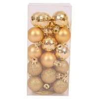 25-Piece Mini Ornament Set - Gold