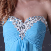Beaded Strapless Bridesmaid Party Gown Prom Ball Evening Formal Long Maxi Dress