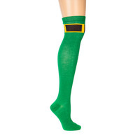 St. Patrick's Day Leprechaun Over the Knee Socks