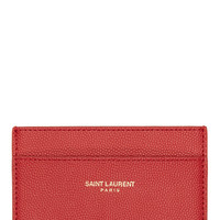 Saint Laurent Red Leather Classic Card Holder
