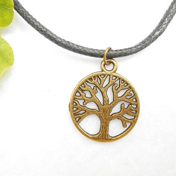 Antique Bronze Tree Of Life Necklace - Yggdrasil Necklaces - Bronze Tree Necklace - Viking Mens Jewelry - Fathers Day Gift - Mens Jewellery