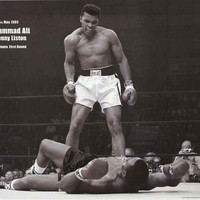 Muhammad Ali and Sonny Liston Knockout Poster 24x36