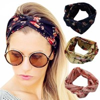 Floral Print Elastic Bandana Headband (15 Options)