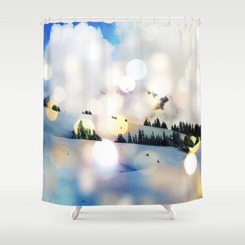 Magic in The Snow #society6 Decor #home #buyart #landscape #lifestyle #fashion Shower Curtain by 83oranges.com | Society6