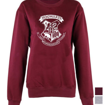 Harry Potter Hogwarts Logo master of death triangle crew neck sweatshirt unisex | eBay