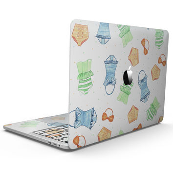 The Colorful Bathing Suit Pattern - MacBook Pro with Touch Bar Skin Kit