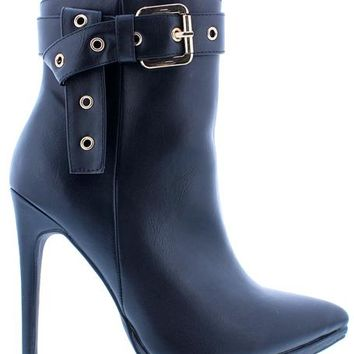 Buckled Up Boots - Black