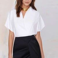 Black Pleated Tulip Skirt