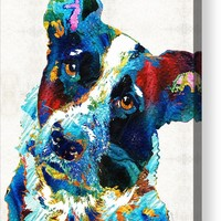 Colorful Dog Art - Irresistible - By Sharon Cummings Acrylic Print