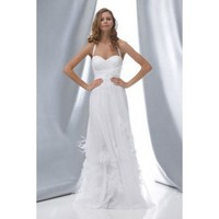 A-line sleeveless net floor-length bridal gown