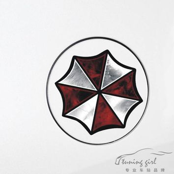 Car Stickers Resident Evil Umbrella Corporation Decals For Fuel Tank Cap Waterproof Auto Tuning Styling PVC PET D11