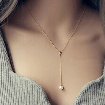 New Short Necklaces Pendants Simulated Pearl Necklace Women Chain Clavicle Fashion Jewelry