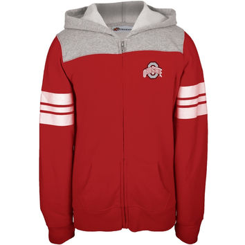 Ohio State Buckeyes - Logo Foil Girls Youth Zip Hoodie