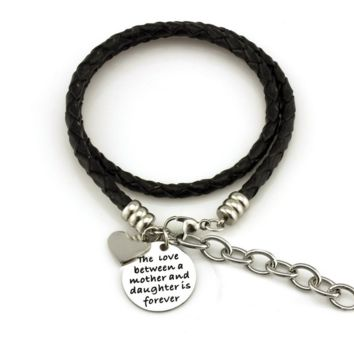 Balla The Love Between a Mother and Daughter is Forever Wrap Bracelet with Charm
