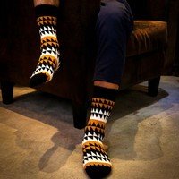 Men's Abstract Print Socks