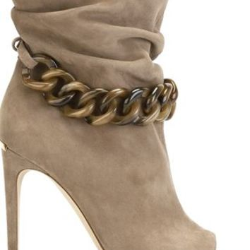 Burberry Open Toe Chain Embellished Boots - Biondini Paris - Farfetch.com
