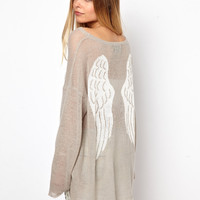 Wildfox | Wildfox White Label Guardian Angel Jumper at ASOS