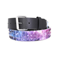 Galaxy Pyramid Stud Belt | Hot Topic