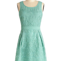 ModCloth Mid-length Tank top (2 thick straps) Shift Sprigs of Spring Dress