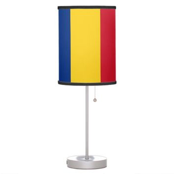 Patriotic table lamp with Flag of Romania