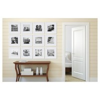 "12 Piece 12X12 White Frame Kit, Matted To 8""X8"" - Gallery Perfect"