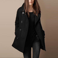 Renya Double-Breasted Wool Coat