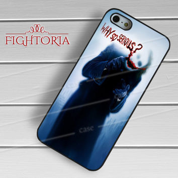 Why so serious The joker - zFzF for  iPhone 6S case, iPhone 5s case, iPhone 6 case, iPhone 4S, Samsung S6 Edge