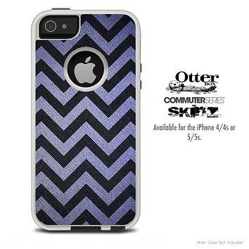 The Purple Textured Chevron Pattern Skin For The iPhone 4-4s or 5-5s Otterbox Commuter Case
