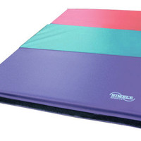 6ft Pastel Blue Folding Mat for Gymnastics by Nimble Sports