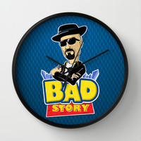 Heisenberg Breaking Bad Story mashup Decorative Circle Wall Clock Watch by Three Second