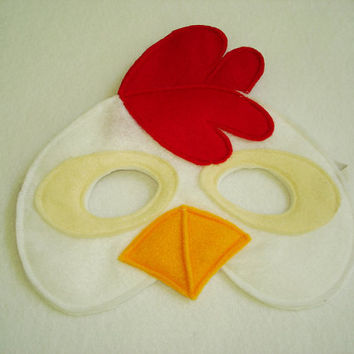 Children's CHICKEN Farm Animal Felt Mask