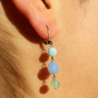 Blue earrings, blue earrings for women, blue earring, aqua blue earrings, blue sapphire dangle earrings FREE SHIPPING!