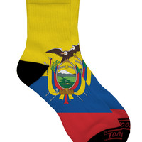 Ecuador Flag AOP Adult Short Socks All Over Print
