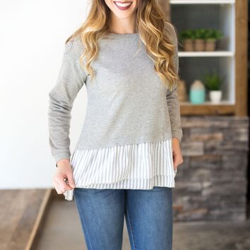 Striped Contrast Top- 2 Options