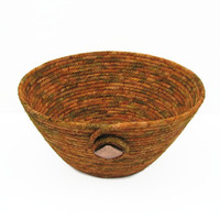 Copper Coiled Fabric Bowl, Basket