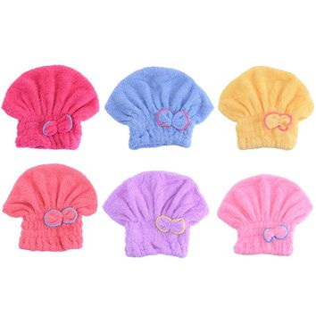 New Microfiber Solid Lady's Hair Turban Quickly Dry Hair Hat for Womens Girls Bath Cap Bathing Tool Drying Towel Head Wrap Hat