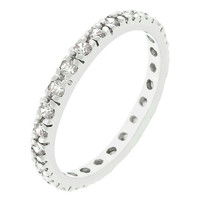 Eternity Ring, Eternity Band, Wedding Ring, CZ Wedding Ring, CZ Ring, CZ Eternity Band, Cubic Zirconia Eternity Band