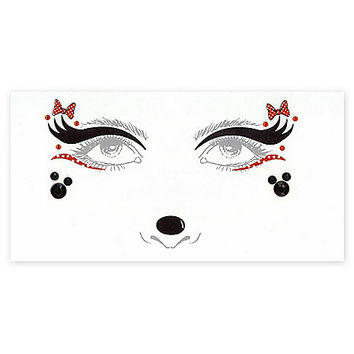 Minnie Mouse Face Tattoo Decals - Disney - Spirithalloween.com