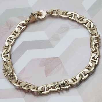 Gold Tone Women Elephant Fancy Bracelet, by Folks Jewelry